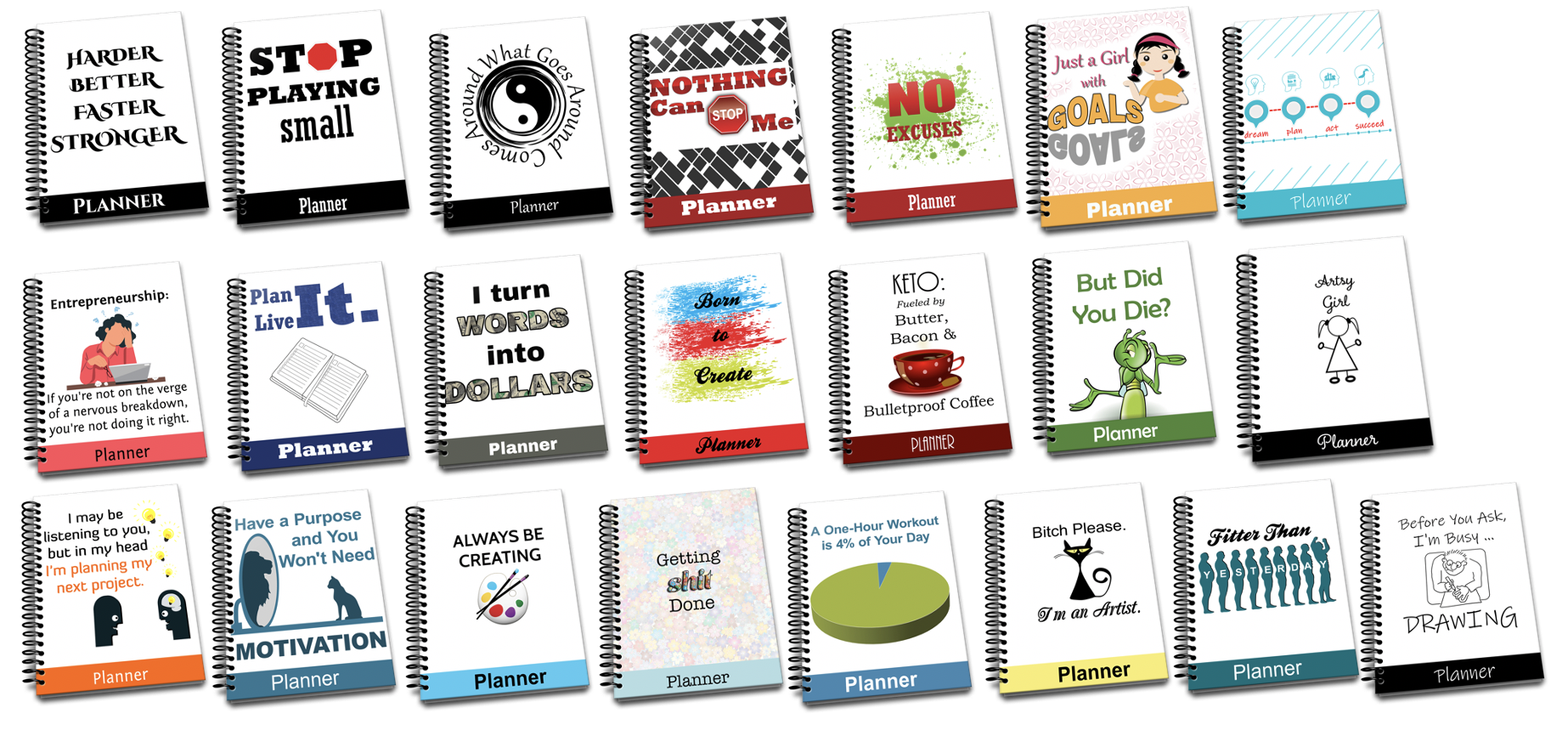 22 Planners with PLR Rights