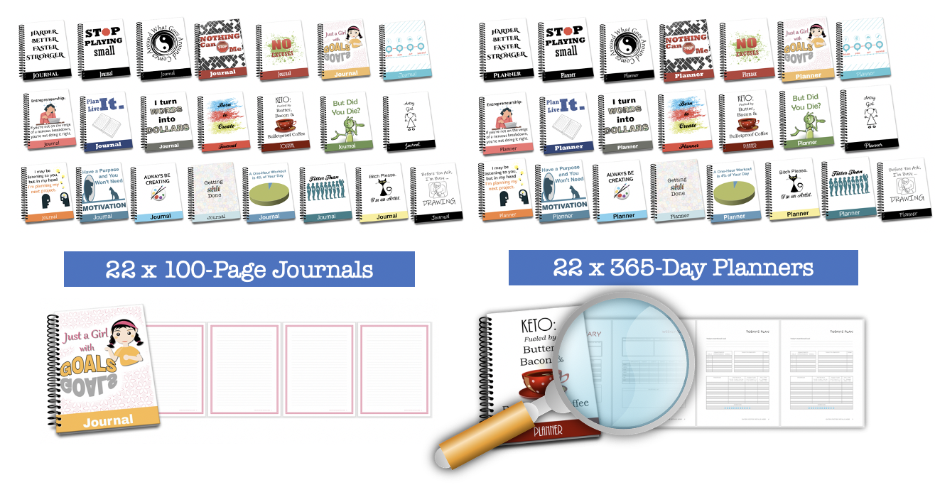 22 Journal and Planner Pack