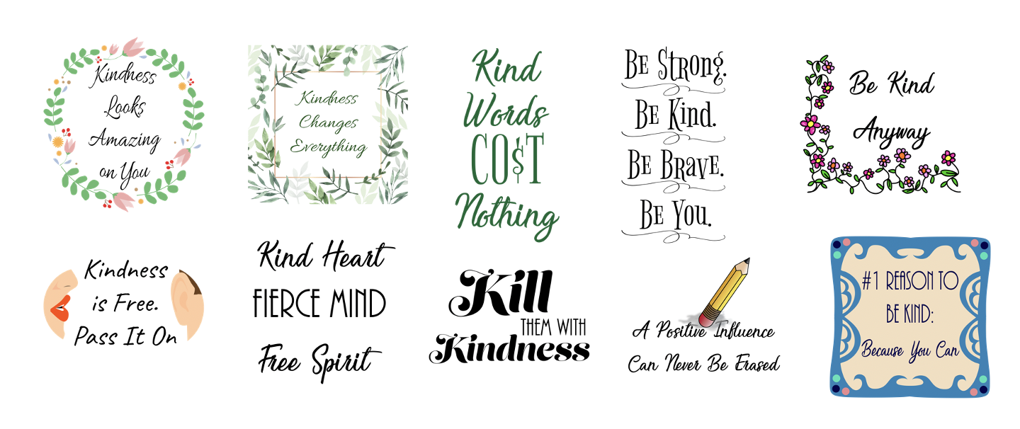 Kindness Product Templates
