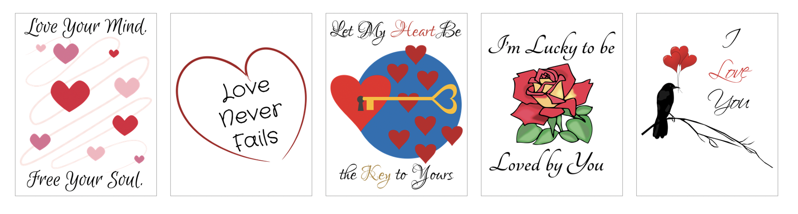 Love and Relationships Product Templates