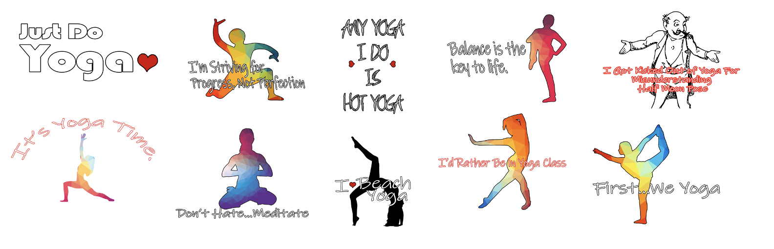 Yoga Product Templates