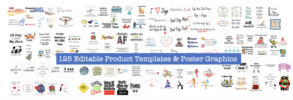 125 product Templates and Posters