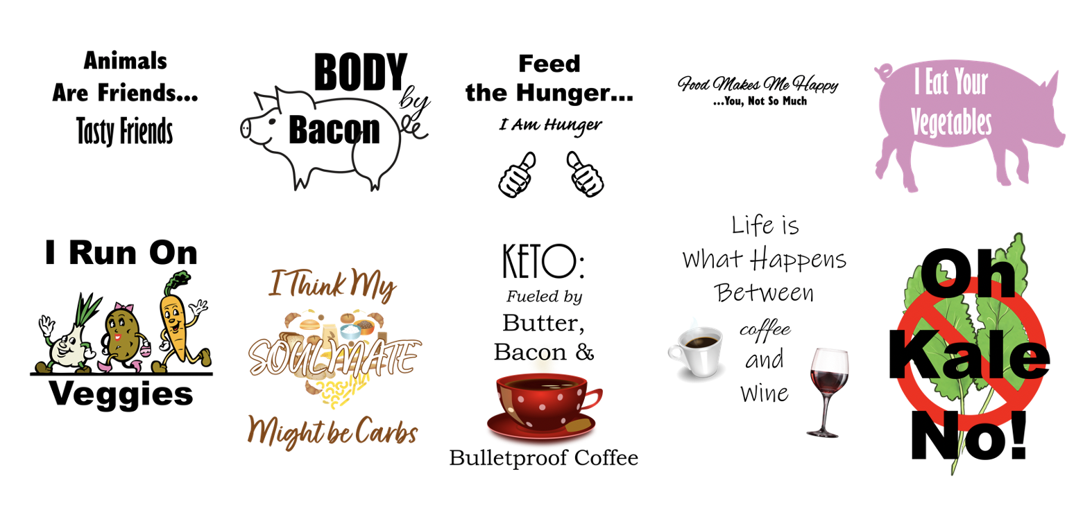 Food Product Templates