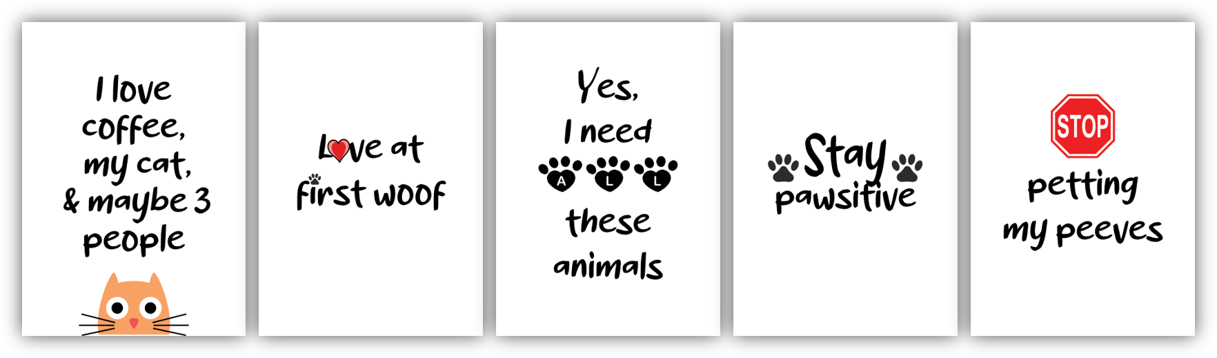 Pets and Animals Card Deck