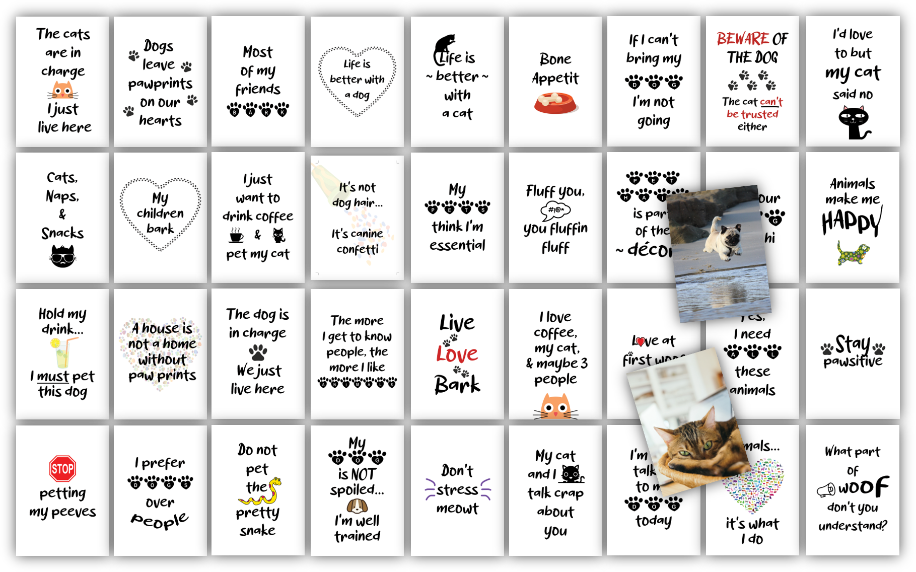 For the Love of Pets Card Deck