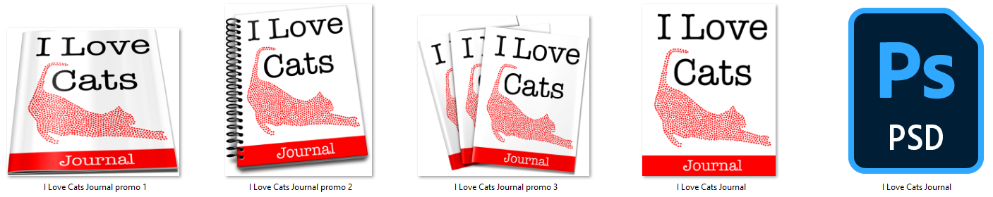 I love cats journal ecovers