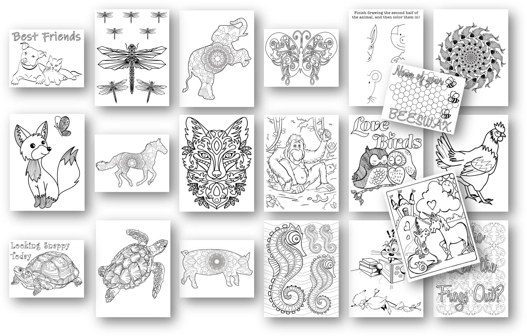 pets and animals coloring pages
