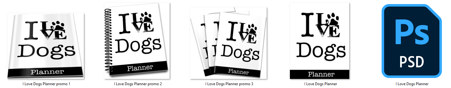 I love dogs planner ecovers
