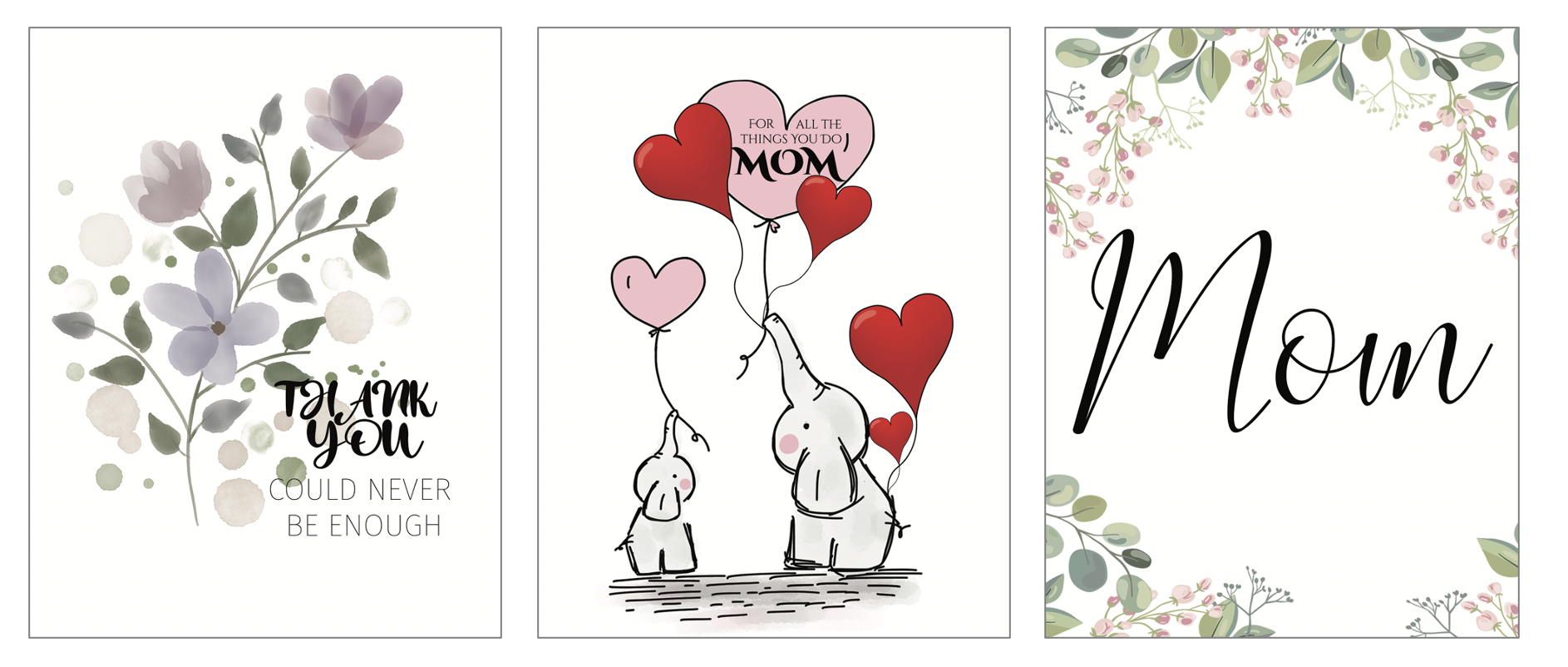 3 Free Cards for Mom