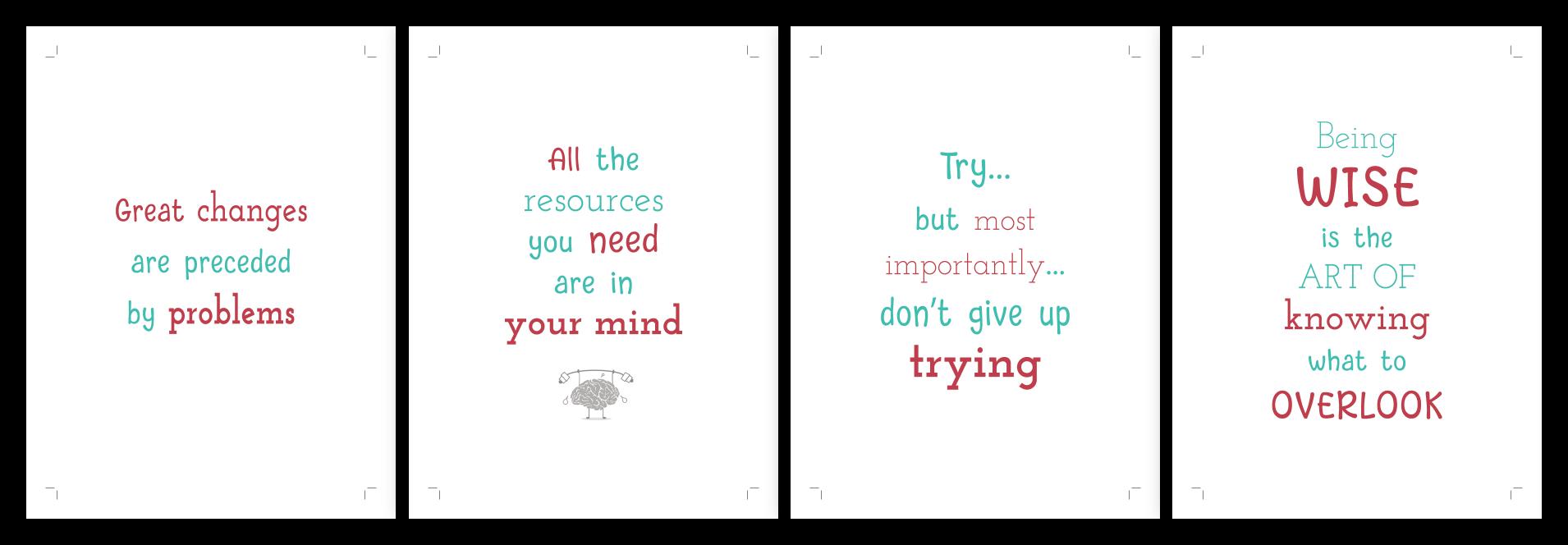 Growth mindset card deck