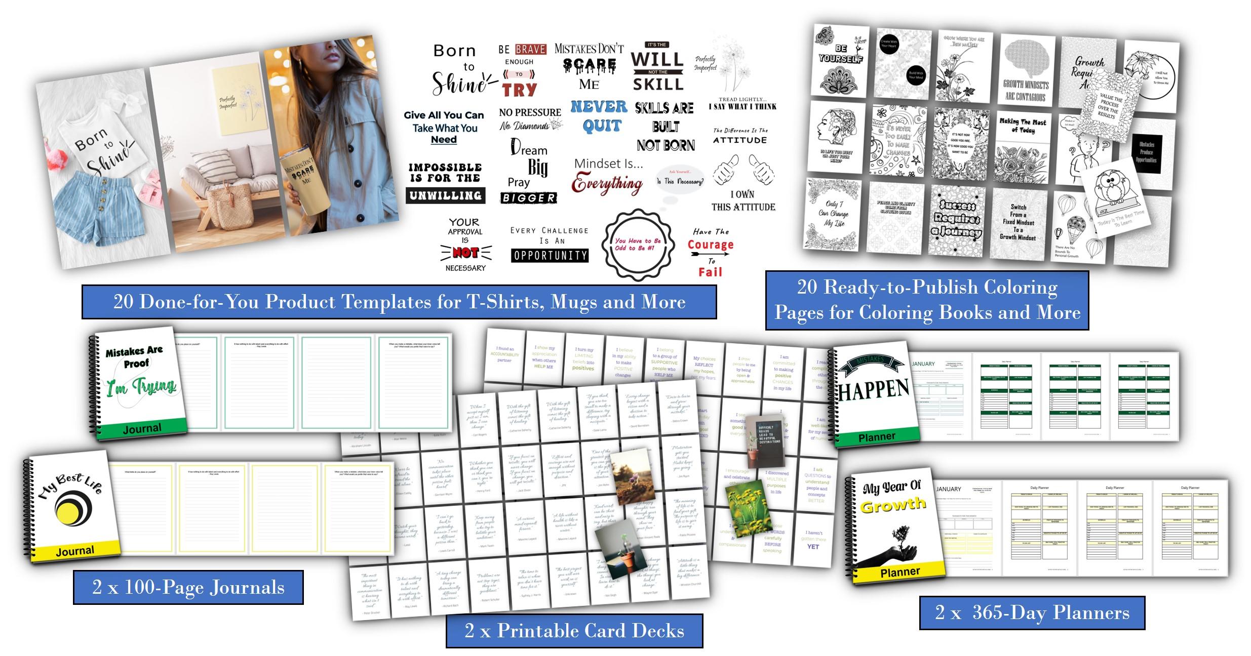 growth mindset template plr pack upgrade