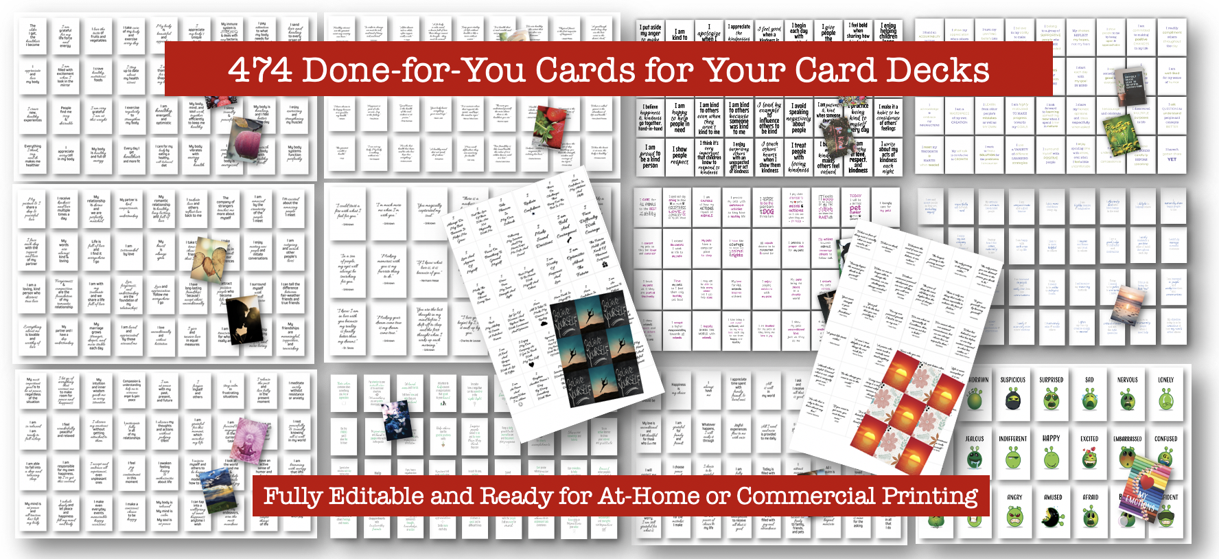 453 Cards on various topic including Law of attraction, Growth Mindset and more