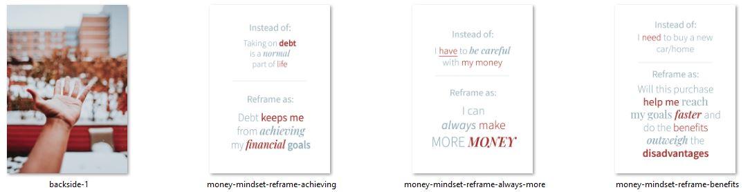 wealth mindset plr card deck