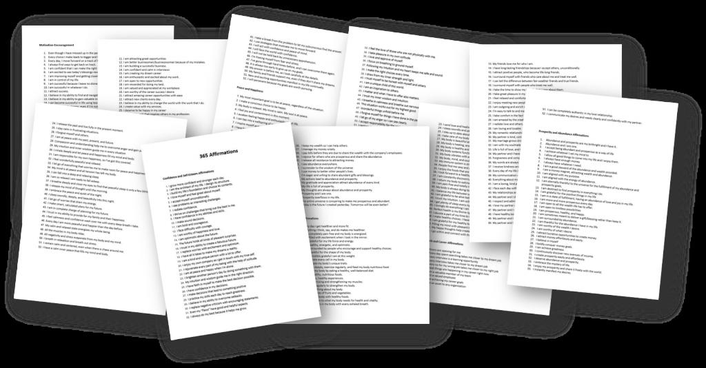 List of 365 affirmations