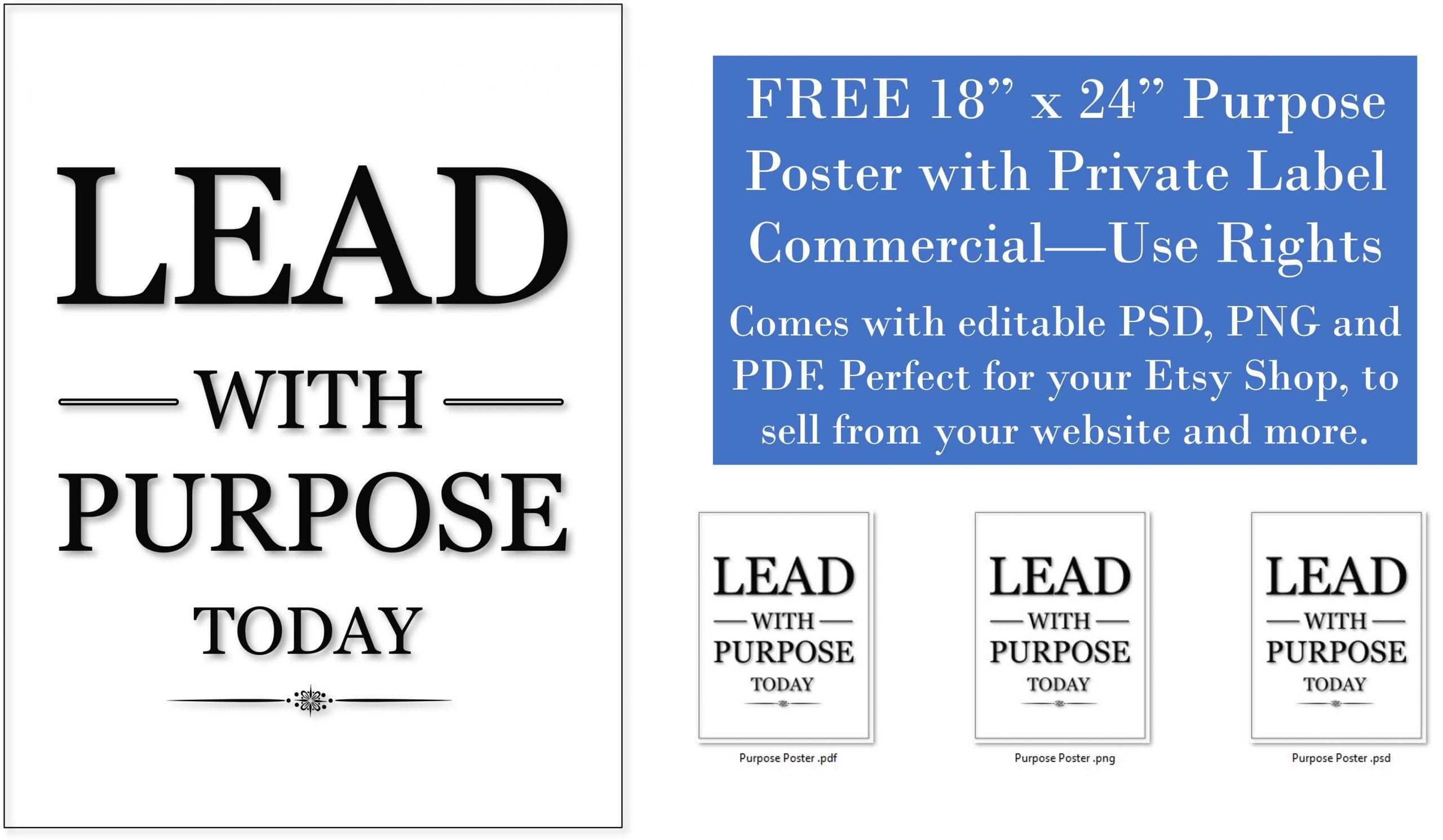 Free PLR Power of Purpose