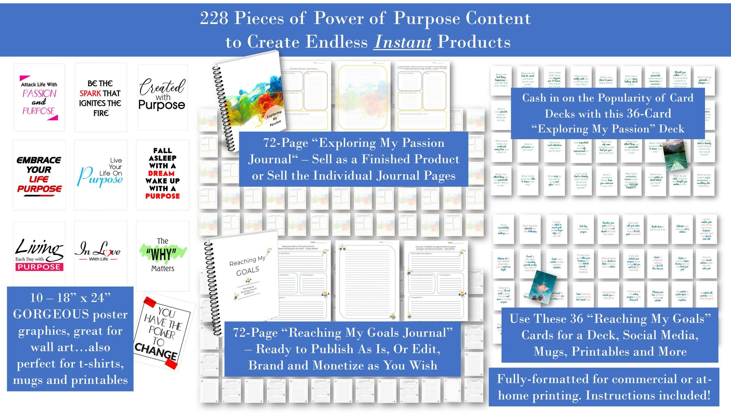 Power of Purpose PLR Poster Pack