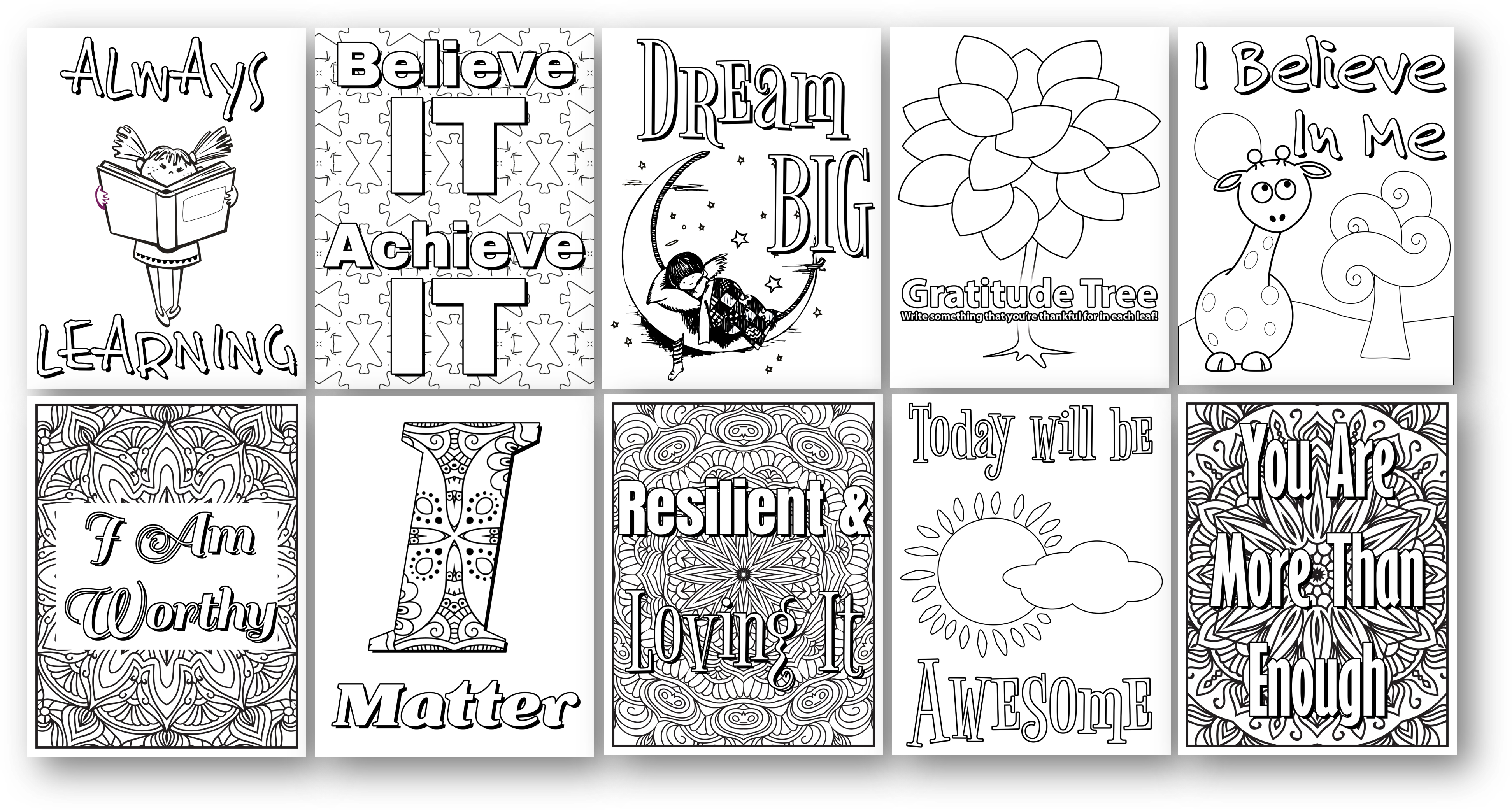 healthy kids coloring pages